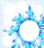 Abstrakter Hintergrund der Schneeflocke. Lizenzfreies Stockbild