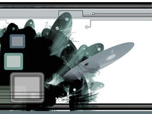 Abstrakter Hintergrund der Sciencefiction Stockfoto