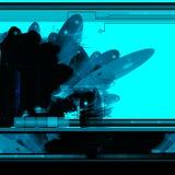 Abstrakter Hintergrund der Sciencefiction Lizenzfreies Stockbild