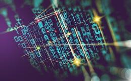 Abstrakter Hintergrund der Technologie, der Wissenschaft und des Wolkencomputers 3d Lizenzfreie Stockfotos
