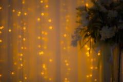 Abstrakter Hintergrund der unscharfen Lichter mit bokeh Effekt Stockfotos