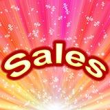 Abstrakter Hintergrund der Verkäufe Stockfoto