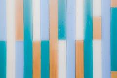 Abstrakter Hintergrund der Weinlese, Muster der bunten hölzernen Wand blau Lizenzfreie Stockfotografie