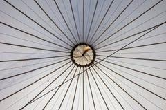 Abstrakter Hintergrund der Zelt-Decke Stockfotografie