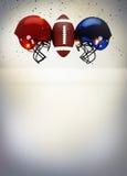 Abstrakter Hintergrund des amerikanischen Fußballs Stockbild
