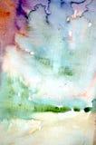 Abstrakter Hintergrund des Aquarells Lizenzfreie Stockfotos