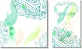 Abstrakter Hintergrund des Aquarells Stockfoto