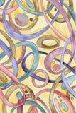 Abstrakter Hintergrund des Aquarells Stockbilder