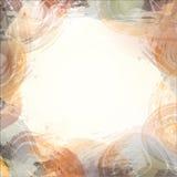 Abstrakter Hintergrund des Aquarells Blauer abstrakter Kreis auf dem weißen Hintergrund Stockfotografie