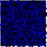 Abstrakter Hintergrund des blauen und schwarzen Quadrats Stockbilder