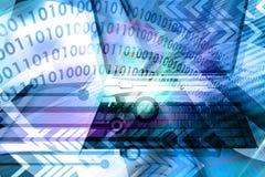 Abstrakter Hintergrund des Computers - Blau Stockfotos