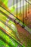 Abstrakter Hintergrund des Computers - Grün Stockfotos