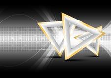 Abstrakter Hintergrund des Dreiecks lizenzfreie abbildung