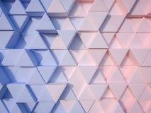 Abstrakter Hintergrund des Dreiecks 3d des Ruhe-Blaus und Rose Quartzs Lizenzfreie Stockfotografie