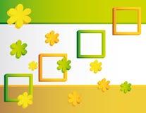 Abstrakter Hintergrund des Gelbs und des Grüns vektor abbildung