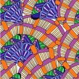Abstrakter Hintergrund des geometrischen Musterzeichnens Stockfotos
