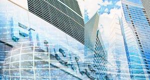 Abstrakter Hintergrund des Geschäfts Stockfotografie