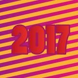 Abstrakter Hintergrund des guten Rutsch ins Neue Jahr 2017 Stockfoto