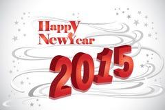 abstrakter Hintergrund des guten Rutsch ins Neue Jahr 2015 mit Zahlen - Illustration eps10 Stockbilder