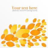Abstrakter Hintergrund des Herbstlaubs mit Textplatz Stockfoto