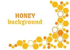 Abstrakter Hintergrund des Honigs mit Bienenwabe Auch im corel abgehobenen Betrag lizenzfreie abbildung