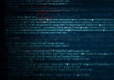 Abstrakter Hintergrund des Programmnetzcodes Lizenzfreie Stockfotos
