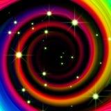 Abstrakter Hintergrund des Regenbogens Stockbild