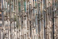 Abstrakter Hintergrund des Seils mit dem KnotenMehrkanalhängen Lizenzfreies Stockfoto