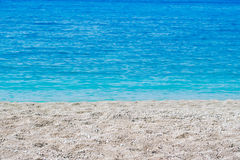 Abstrakter Hintergrund des Sommers des tropischen Strandes Stockfotografie