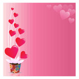 Abstrakter Hintergrund des Valentinstags Stockbilder