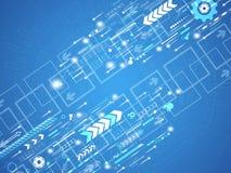 Abstrakter Hintergrund des Vektors der technologischen Innovation Stockbilder