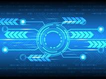 Abstrakter Hintergrund des Vektors der technologischen Innovation Stockbild