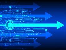 Abstrakter Hintergrund des Vektors der technologischen Innovation Stockfoto
