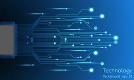 Abstrakter Hintergrund des Vektors der technologischen Innovation Lizenzfreie Stockfotos