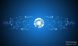 Abstrakter Hintergrund des Vektors der technologischen Innovation Lizenzfreies Stockbild