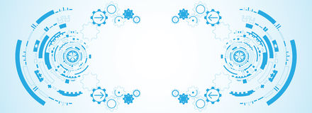 Abstrakter Hintergrund des Vektors der technologischen Innovation Lizenzfreies Stockfoto