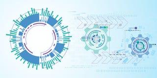 Abstrakter Hintergrund des Vektors der technologischen Innovation Lizenzfreie Stockfotografie