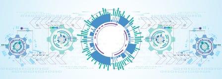 Abstrakter Hintergrund des Vektors der technologischen Innovation Lizenzfreie Stockbilder