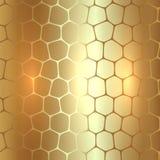 Abstrakter Hintergrund des Vektors Metallgoldmit Stockbilder