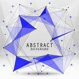 Abstrakter Hintergrund des Vektors mit Dreiecken Stockbilder