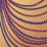 Abstrakter Hintergrund des Vektors mit farbigen Perlen Stockbild