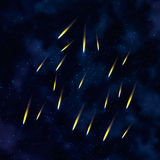 Abstrakter Hintergrund des Vektors mit Kometen Lizenzfreie Stockfotografie