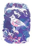 Abstrakter Hintergrund des Vektors mit Vögeln Lizenzfreie Stockfotos