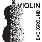 Abstrakter Hintergrund des Vektors mit Violine und Anmerkungen Stockbilder