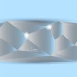 Abstrakter Hintergrund des Vektors. Polygonales Muster Lizenzfreies Stockbild