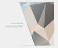 Abstrakter Hintergrund des Vektors. Polygonales Muster Lizenzfreie Stockbilder
