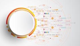 Abstrakter Hintergrund des Vektors zeigt die Innovation der Technologie und der Technologiekonzepte Stockbilder