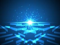 Abstrakter Hintergrund des Vektors zeigt die Innovation der Technologie und der Technologiekonzepte Stockfotografie