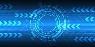 Abstrakter Hintergrund des Vektors zeigt die Innovation der Technologie und der Technologiekonzepte Lizenzfreies Stockfoto