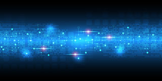 Abstrakter Hintergrund des Vektors zeigt die Innovation der Technologie und der Technologiekonzepte lizenzfreie abbildung